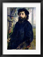 Framed Portrait of Claude Monet