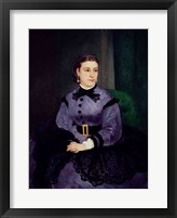 Portrait of Mademoiselle Sicot, 1865 Framed Print