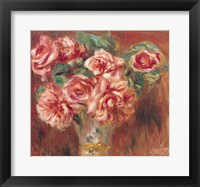 Framed Roses in a Vase, c.1890