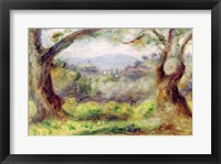 Landscape at Les Collettes, 1910 Framed Print