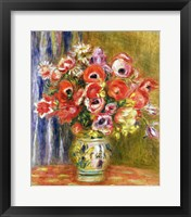 Framed Vase of Tulips and Anemones, c.1895