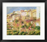 Terrace in Cagnes, 1905 Framed Print