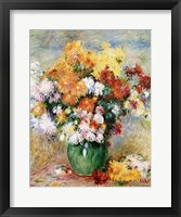 Bouquet of Chrysanthemums, c.1884 Framed Print