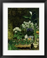 Framed Flowers in a Greenhouse, 1864