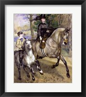 Framed Horsewoman in the Bois de Boulogne, 1873