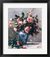 Framed Vase of Roses