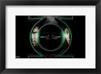 Framed Green Lantern - symbol