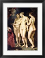 Framed Medici Cycle: Education of Marie de Medici, detail of the Three Graces