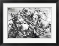 Framed Battle of Anghiari after Leonardo da Vinci