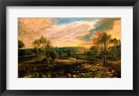 Framed Landscape with a Shepherd and his Flock