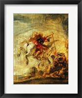 Framed Bellerophon Riding Pegasus Fighting the Chimaera