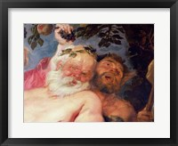 Framed Drunken Silenus Supported by Satyrs