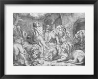 Framed Daniel in the lions' den