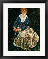 Framed Artist's wife seated
