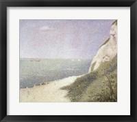 Framed Beach at Bas Butin, Honfleur, 1886
