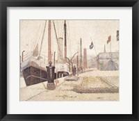 Framed La Maria at Honfleur, 1886