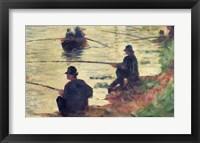 Framed Anglers, Study for 'La Grande Jatte', 1883