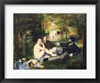 Framed Dejeuner sur l'Herbe, 1863