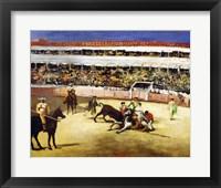 Framed Bull Fight, 1865