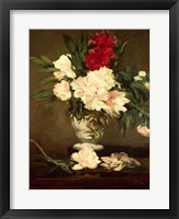 Framed Vase of Peonies on a Small Pedestal, 1864