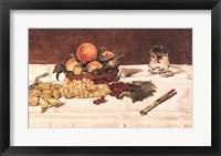 Framed Still Life: Fruit on a Table, 1864