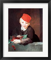Framed Boy with the Cherries, 1859