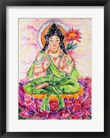 Framed Flower Buddha