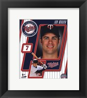Framed 2011 Joe Mauer Studio Plus