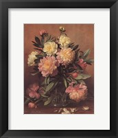 Pink and White Peonies Framed Print
