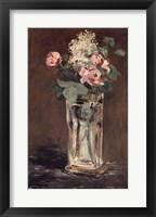 Framed Flowers in a Crystal Vase