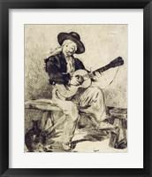 Framed Guitarist