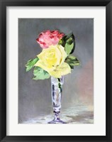 Framed Roses in a Champagne Glass, c.1882