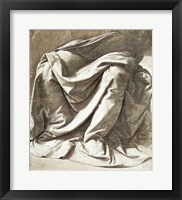 Framed Drapery study for a Seated Figure