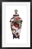 Framed Dragon Vase