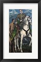 Framed Saint Martin and the Begger 1597-99