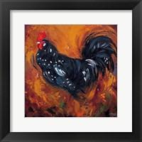 Framed Rooster #500
