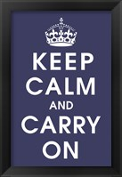 Framed Keep Calm (navy)