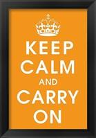 Framed Keep Calm (orange)