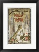 Framed Greetings from New York