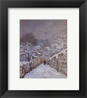 Framed Snow at Louveciennes, France, 1878