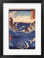Rough Sea at Naruto in Awa Province Framed Print