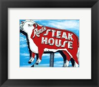 Framed Rod's Steakhouse