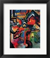 Framed Colored composition (Hommage a` Sebastin Johann Bach)