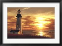 Framed Lighthouse at Sunset