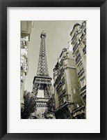 Framed Eiffel Tower Street View #1