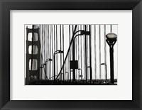Framed Golden Gate Bridge in Silhouette