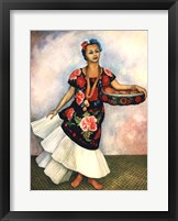 Framed Portrait of Dolores Olmedo