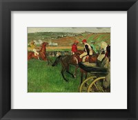 Framed Race Course: Amateur Jockeys near a Carriage, 1876-1887