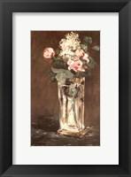 Framed Flowers in a Vase, Ca. 1882
