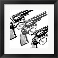 Bang, bang Framed Print